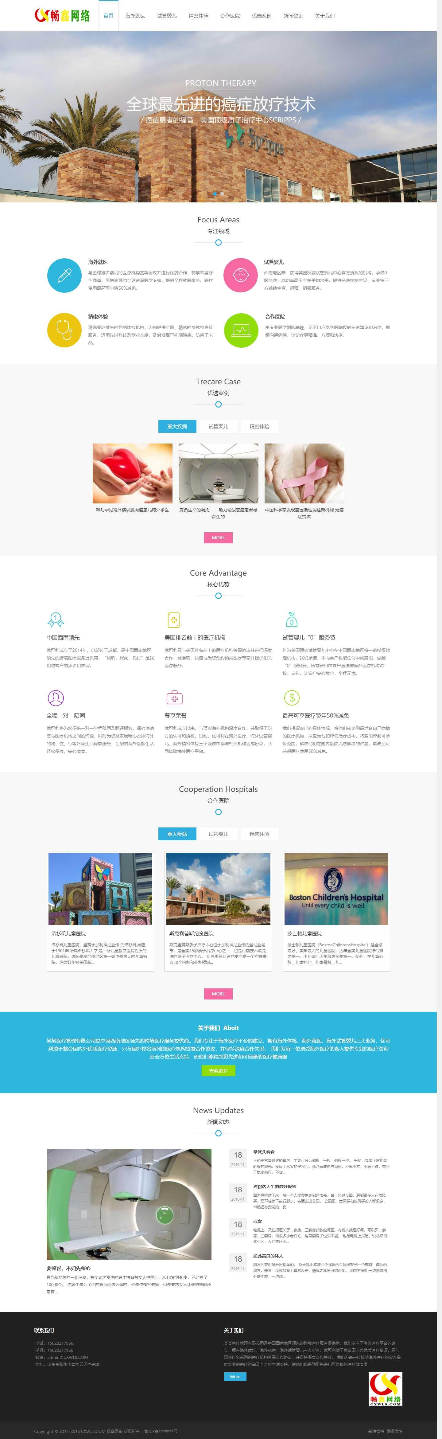 【J019】医疗试管婴儿网站模板